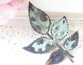 Leaf Branch Hair Pin - Verdigris - Woodland Collection - Whimsical - Nature - Bridal - Patina - Woodland Hair