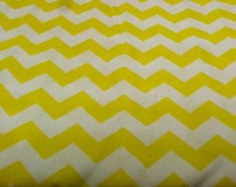 Chevron print fabric yellow