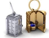 TARDIS Locket Pendant, Sci Fi Pendant, Doctor Who Theme Jewelry, OOAK Pendant, Time Machine Jewelry, Paul Michael Designs