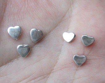 Sterling Silver Heart Beads(2,4, or 6 beads)
