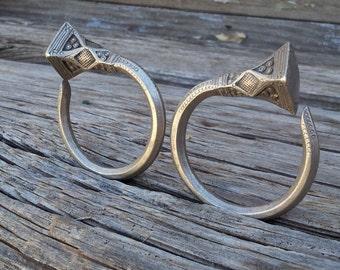 Traditional Imohag Tuareg Tsabit or Tsabatine Tribal Earrings Large 2 Gauge