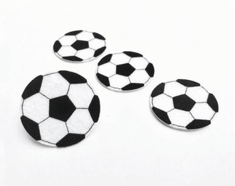 Soccer Ball Felt Applique (Set of 4 pieces)