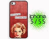 iPhone 5S Back from hell Brazen Babe iPhone 5S Case | iPhone 5  Plastic or Rubber Hard Case White or Black Sassy Brazen Broad Case