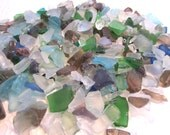 "Beach Decor Sea Glass - Nautical Decor Beach Glass TINY MIX - 3x4"" bag of all colors"