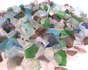 "Beach Decor Bulk Sea Glass, Bulk Seaglass, Nautical Decor Tiny Sea Glass, Tiny Beach Glass, Craft Sea Glass, TINY MIX - 3x4"" - #SGTINY"