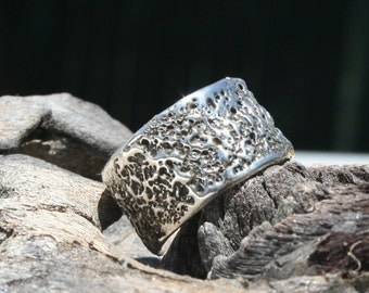 "Sterling silver ""Liquid"" ring"