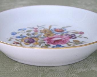 Avon Floral Porcelain Trinket Dish Vintage