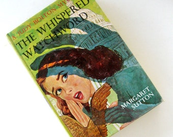 Vintage Judy Bolton Series Book The Whispered Watchword Original Margaret Sutton Picture Cover Original Mystery No 32 1960s