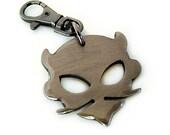 Lil' Lou Devil Metal Charm on Gunmetal Keybob/ Keychain by WATTO Distinctive Metal Wear