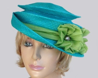 Lily, parasisal millinery hat, packable travel hat, womens straw hat