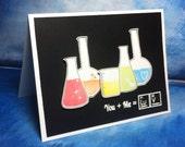 Nerdy I Love You Card, Chemistry, Science