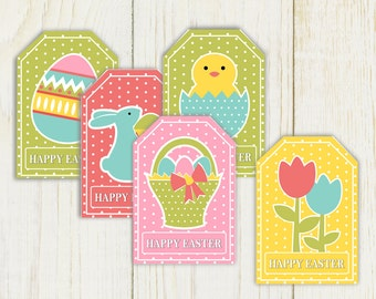 Printable Easter Favor Tags - Instant Download