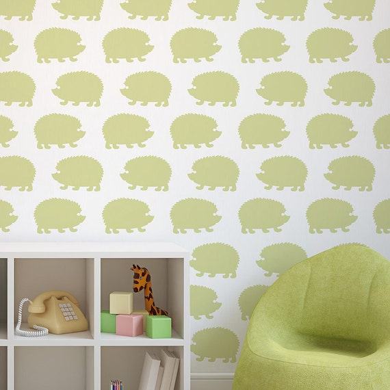 Hedgehogs Allover Stencil Pattern Large Trendy stencils