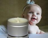 SUGAR TUSH Soy Candle Tin - Vanilla, Peach, Violet & Sugar Scented Soy Candle