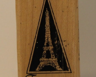 Eiffel Tower France Rubber Stamp