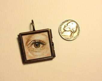 Custom Lover's Eye Miniature Painting 18th 19th c. Century
