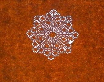 Vintage Japanese Stencil - Flower Stencil -  Family Crest Katagami (ST146)