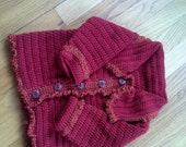 Sweet Baby jacket, crochet, size 12-18 month