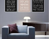 The Entertainer-Set of 3 subway wall art prints