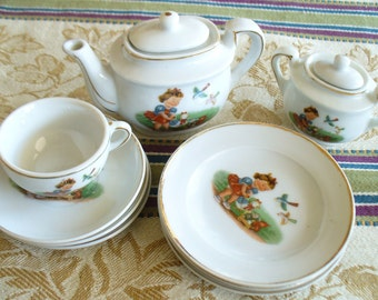 Porcelain doll dishes, doll supplies, miniature dishes