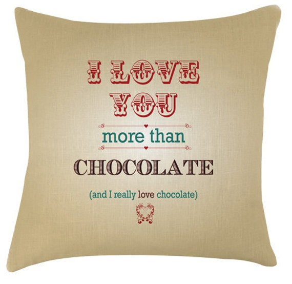 I Love You More Than Quotes Funny: Valentine I Love You More Than Chocolate Typography Quote