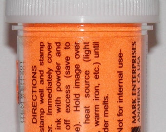 Vivid Orange Embossing Powder
