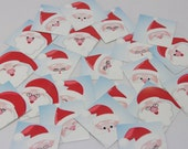 Santa Face Square Stickers Christmas Stickers Holiday Stickers Santa Envelope Seals SES221