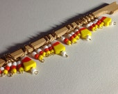 Halloween knit stitch markers - Candy Corn