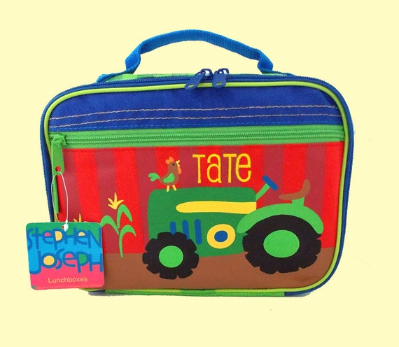 Personalized Stephen Joseph TRACTOR Lunchbox