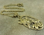 Fairy Necklace Antiqued Bronze