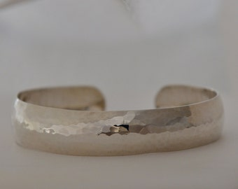 Simple Sterling Silver Thin Cuff, Handmade in Maine