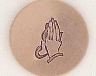 5mm Prayer Hands Metal Design Stamp - Metal Jewelry Stamping Tool The Urban Beader
