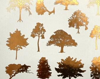 Tree Ceramic Decals, Glass Decals or Enamel Decals