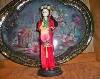 beautiful oriental  detailed doll