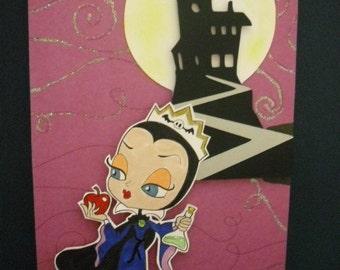 Evil Queen, Ursula, Cruella, or Maleficent Card Inspired Card - you choose