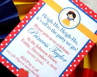 Snow White Inspired Birthday Invitation, DIY, PRINTABLE