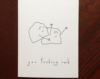 You Fucking Rock - Handmade Card