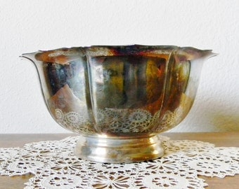Large Vintage Silverplated Bowl by Kent