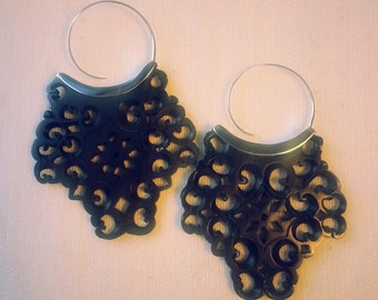 Wood Earrings - Druze