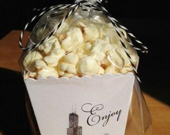Chicago Mini Popcorn Box - Wedding Favor