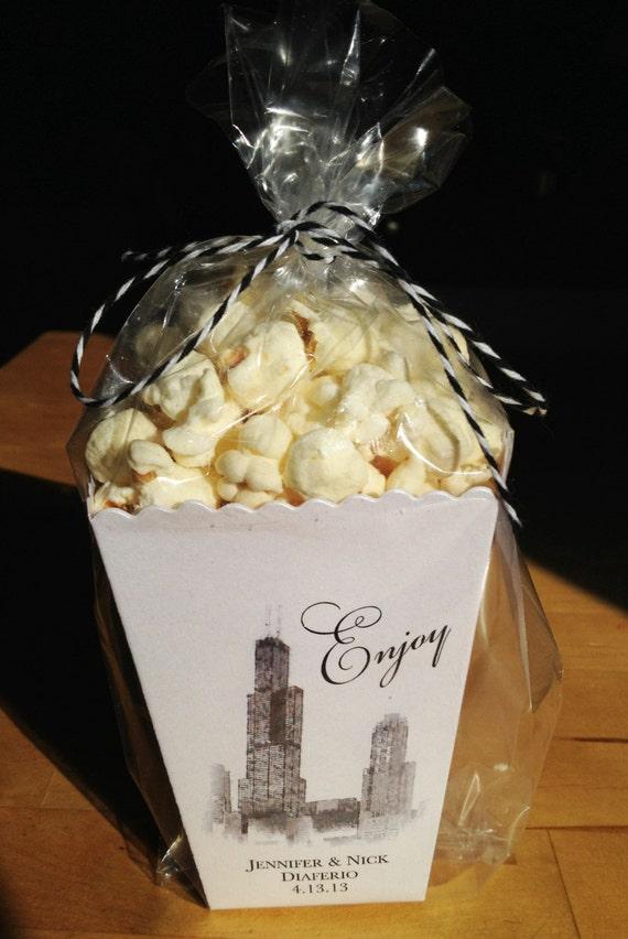 Chicago Mini Popcorn Box Wedding Favor