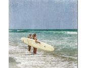 The Ladies of Summer _  Two Honey's ,fine art, surfing photography, beach, bleach blonde,summer , waves, ocean, catching the waves, surf