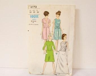 Vintage 1960s Vogue Two-piece Dress Pattern 6673 size 13