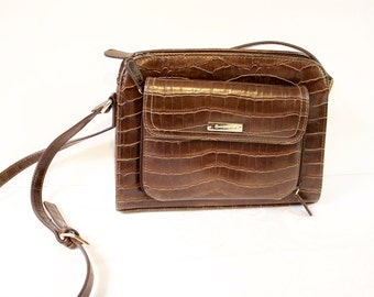 Vintage Brown Crossbody Purse Shoulder bag by Liz Claiborne