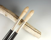 Reserved for Dajana - 2 Ebony and Curley Maple Paint Brush Hair Sticks