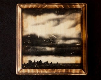 Downtown Los Angeles Skyline Wood Art