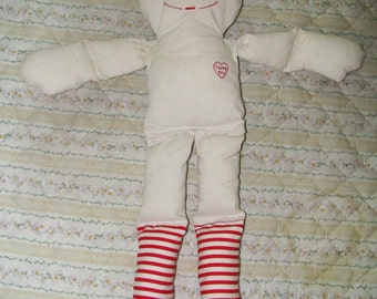 Partially finished Raggedy Ann or Andy doll