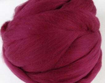 Wool Roving, Merino Roving, Merino Wool, Merino Wool Roving, Felting Wool, Spinning Wool - Ruby - 8oz