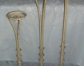 Reserved for Betsy Vintage Tole Toleware Metal Floor Candle Holders Stand