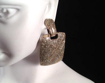 Vintage, Glitter Square Swing Earrings : E309